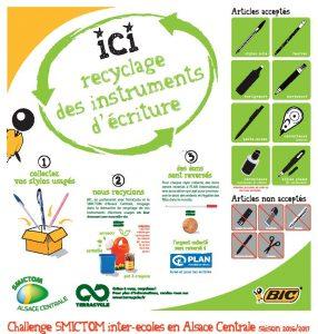 Recyclage des instruments décriture